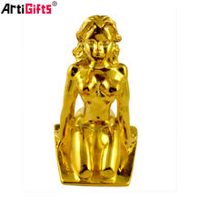 Factory Table Decorative Metal Gold 3D Small African Metal Sculptures