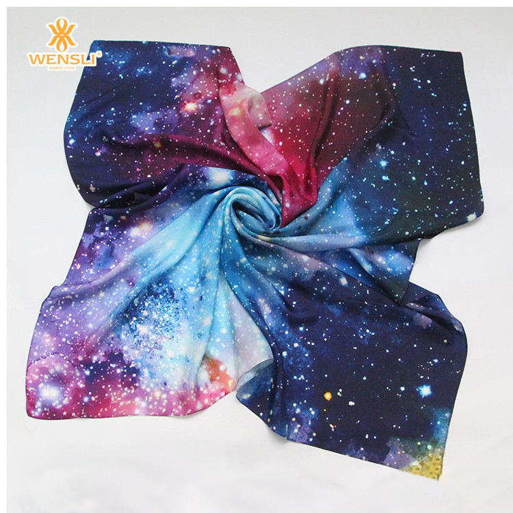 100%Silk Super Nice Star Pattern Best Sellers Strongly Recommend Scarf