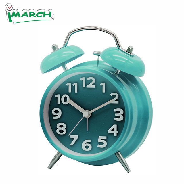 Imarch TBD11501- Blue home decorate 3D Number loud sound Twin Bell Alarm Clock 2020