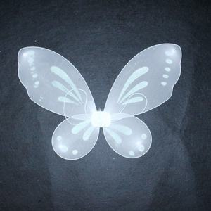 흰 자 nylon fabric fairy Butterfly Wings 와 feather