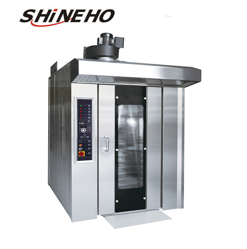 Commercial Automatic Bakery Electric Bread Baking hot air Rotary Oven machine