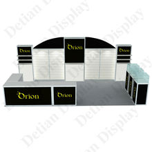 Detian offer exhibition stand contractors design 10x20 trade show booth fashion show fair stall