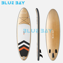 customized design All round paddle board inflatable SUP bamboo board/racing board