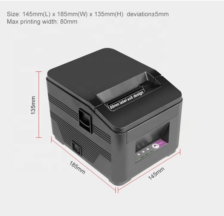 Cheap pos thermal receipt mini printer with auto cutter print machine 80mm thermal paper