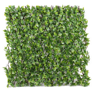 Wholesale Artificial Ivy Screen Privacy Leaf Fence with Willow Trellis for Garden and wall Covering Indoor Outdoor Decor