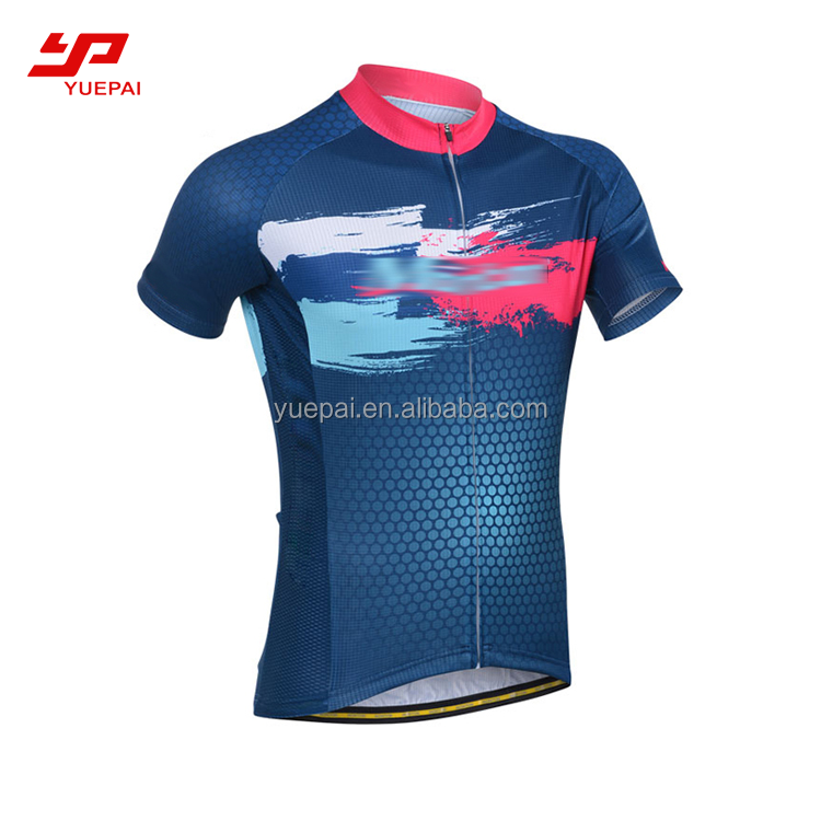 Custom Sublimation Plaid blank Cycling Jerseys Bike Clothing Sportswear Bicycle Jersey Shirt