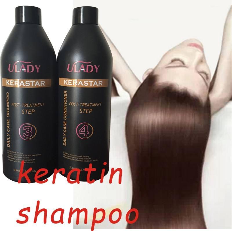 sulfate free conditioner private label China factory offer hair dressing purifying brazilian keratin clarifying shampoo