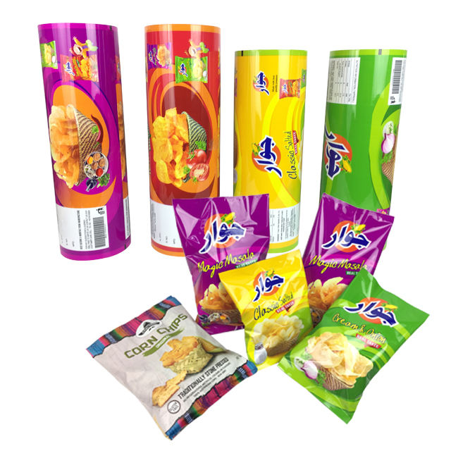 Dried Food Potato Chips Packaging Snack Food PET Film Rolls