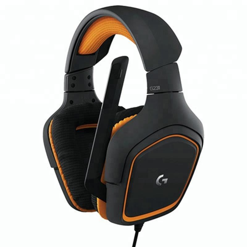 New arrival headband 7.1 channel with stick out microphone logitech G231 headset