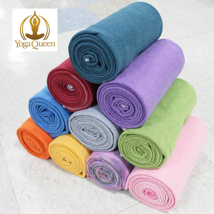 Costom non-slip microfiber tie dye hot yoga towel for yoga