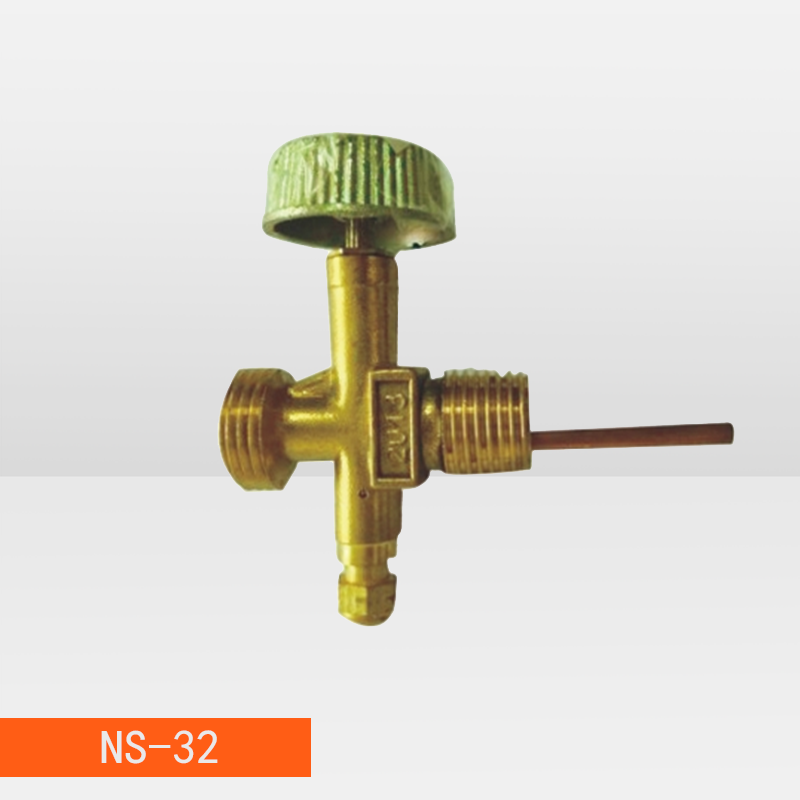 LPG 3 way hose Connector BRASS needle valve