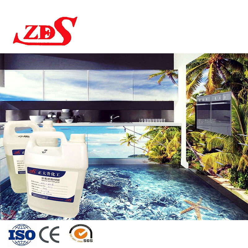 Resin epoxy liquid for 3d resin floor/concrete hardener/2 component epoxy resin for floors