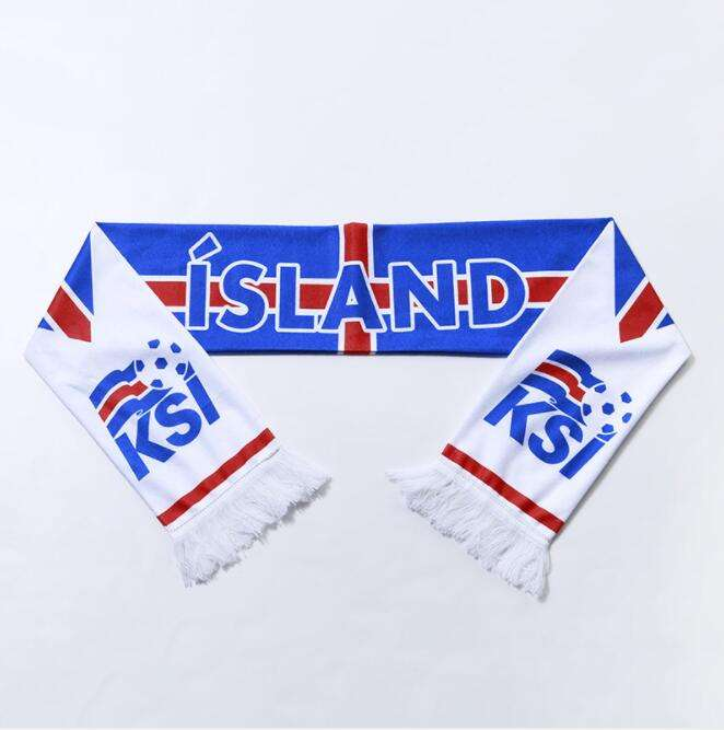 Promotion advertising logo print sports 100% acrylic knitting country flag Fans Cheering Scarf for sale