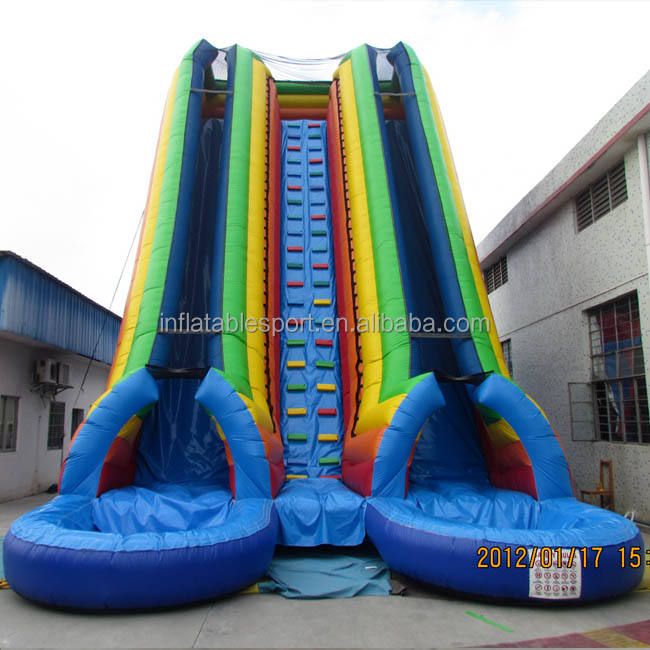 Best quality two pools inflatable water slide