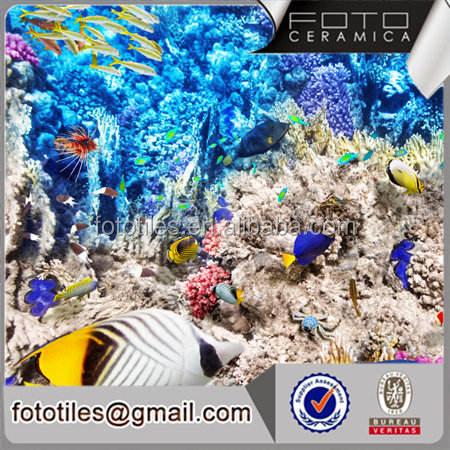 العالم تحت الماء صورتي تصميم الخلفية بلاط الجدار الديكور