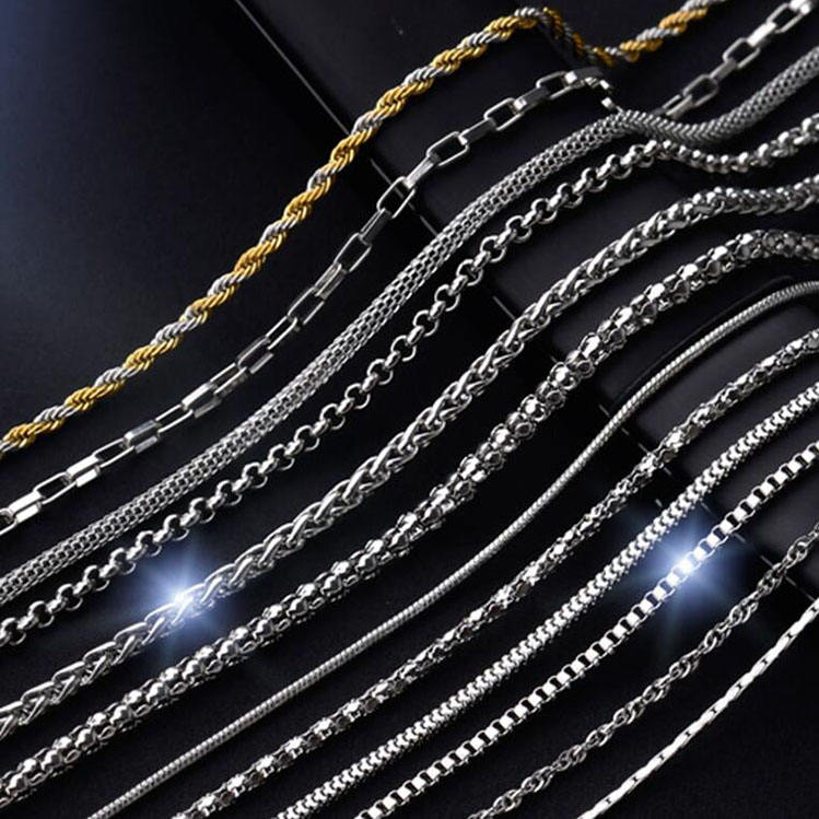 304 316 1-10MM Men Girl Ball Snake Cable Box Cuban Link italian Jewelry chain bulk Stainless Steel Necklace Chain Wholesale