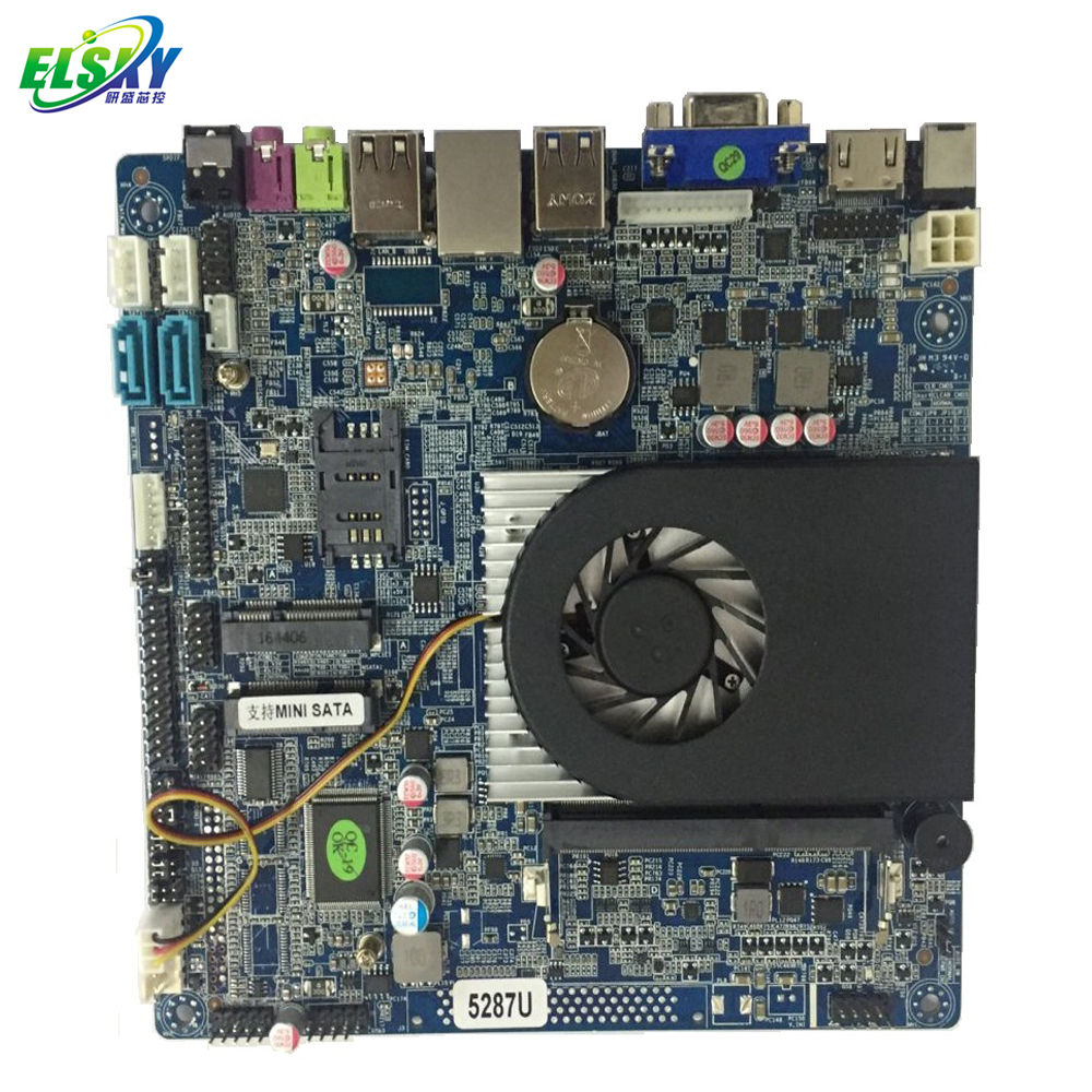 For All In 1 Pc Intel Core I5 I5-5200U Fan VGA LVDS HD-MI Mainboard Supports HD 3 Screens Display
