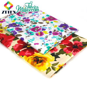 wholesale custom 100 cotton colored dye print poplin canvas fabric from china supplier