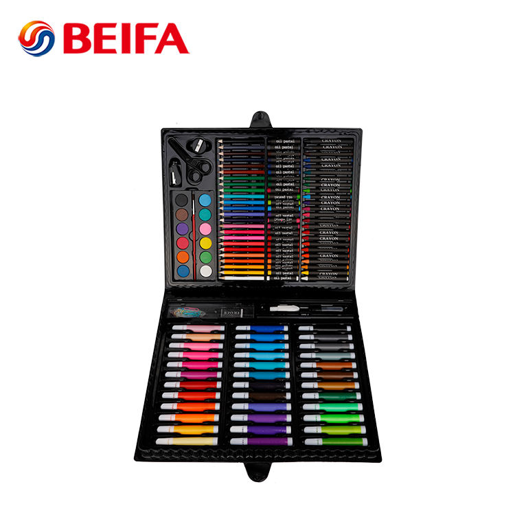 Beifa 150 Pcs Multi Tujuan Cat Air Pena Crayon Oil Pastel Menggambar Set Anak-anak Siswa Seni Cat Set plastik Art Set