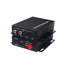 2-channel audio RCA to fiber converter digital audio fiber optic extender for broadcast audio