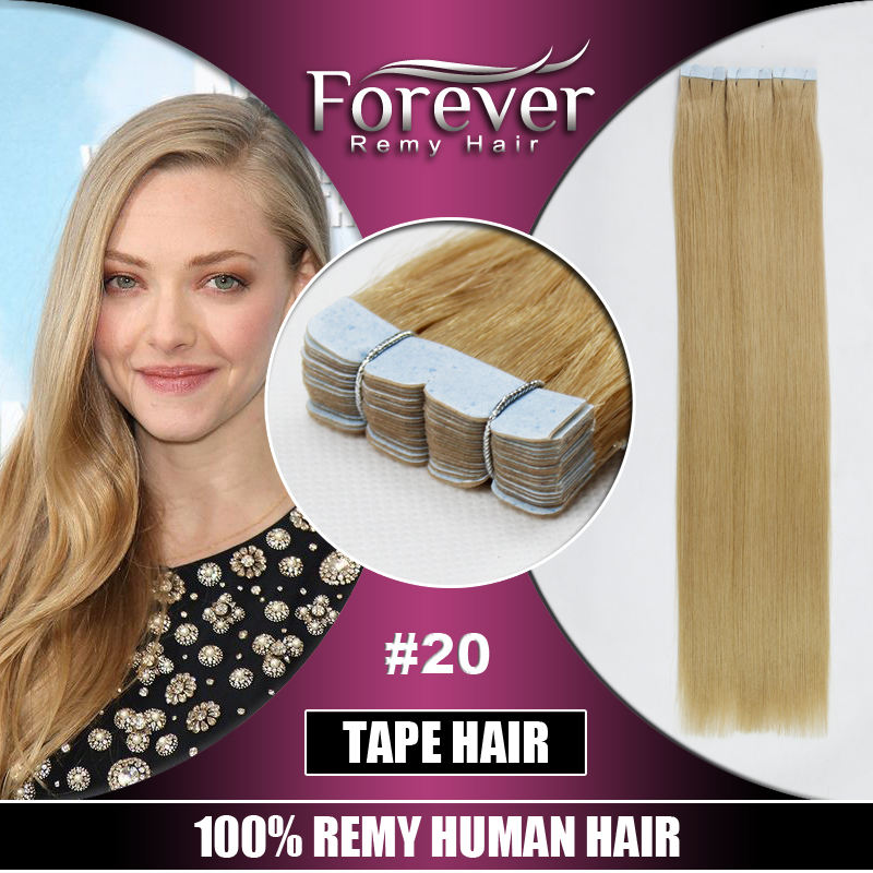 Skin Weft Extensions Tape Extensions Double Drawn Thick Ends European Remy Hair 100 % Human Tape On Hair Extensions