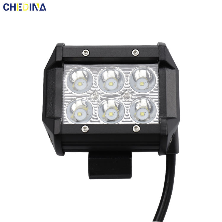 Waterproof Offrode Square 18w LED Work Light
