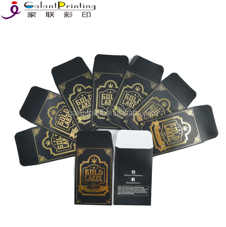 100 Original Shatter Labels Extract Envelopes Custom Glossy Color Self-adhesive Envelopes for Coin or Shatter Packaging