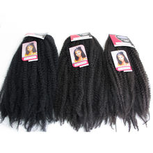 Hot selling Afro Kinky Bulk Synthetic twist marley braiding pre twisted synthetic hair extension for crochet braids