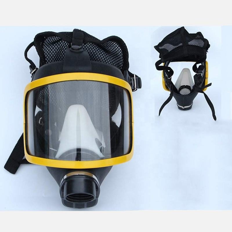 yellow color anti dust gas spray painting face mask chemical respirator
