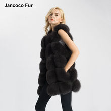 New Arrival Real Fox Fur Gilets Women's Winter Warm Fur Vest Fashion Style Waistcoat High Quality