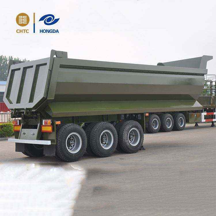 dump truck spare parts Dongfeng dump semi trailer extensive used in bulk materials transport