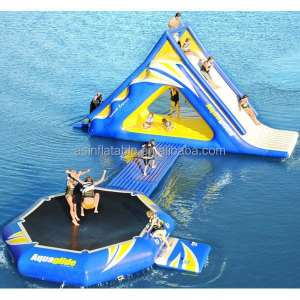 On Sale Inflatable Sea Water Park / Inflatable Floating Aqua Sport Park Construction