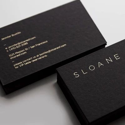 Custom 500gsm gold plated cardboard business card with gold foil