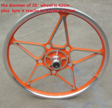 Duro 700x24 Fixie Pops Tire Orange Folding Bead DB7070