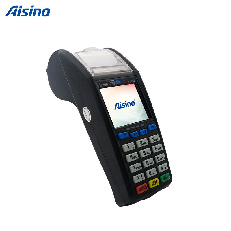 Tenuto in mano Portatile wired <span class=keywords><strong>POS</strong></span> NFC Terminale <span class=keywords><strong>POS</strong></span> GPRS/3G/Ethernet Stampante Termica V80SE