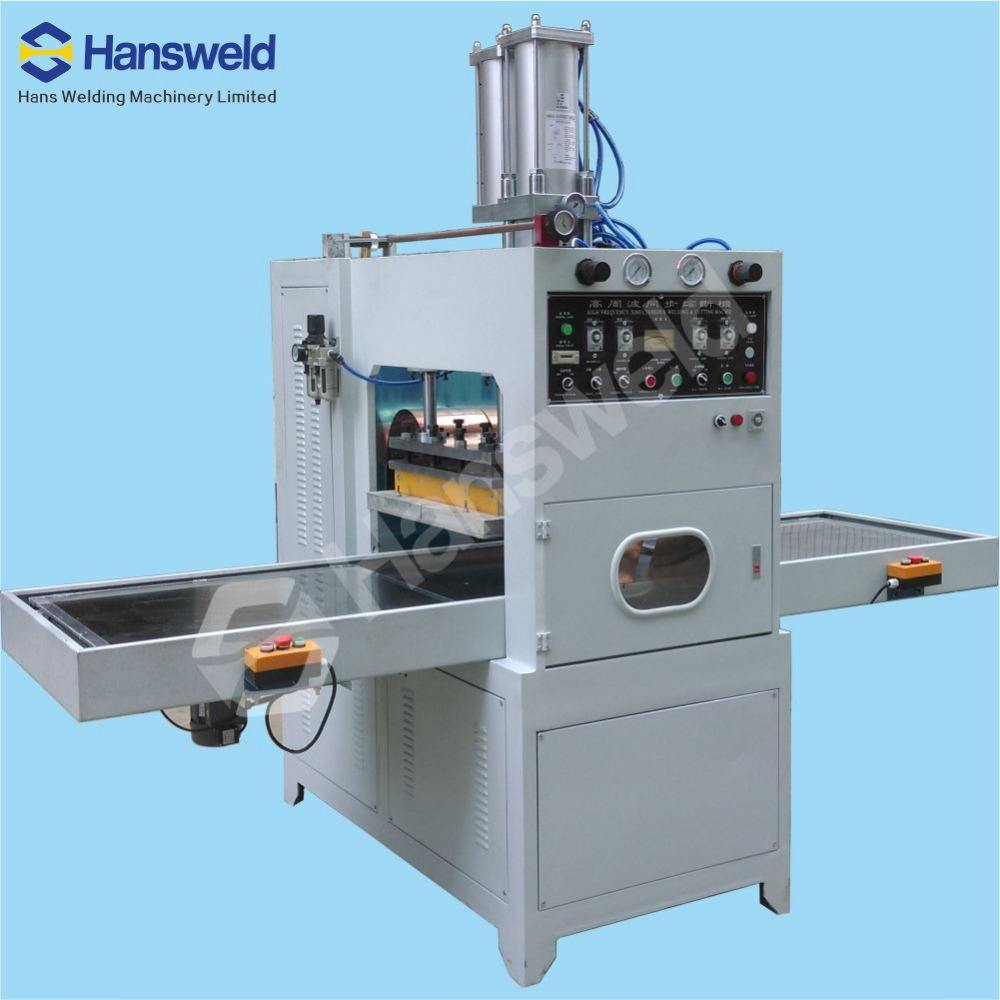 High Frequency PVC folding box making machine soft creased box machine PVC clear box making machine
