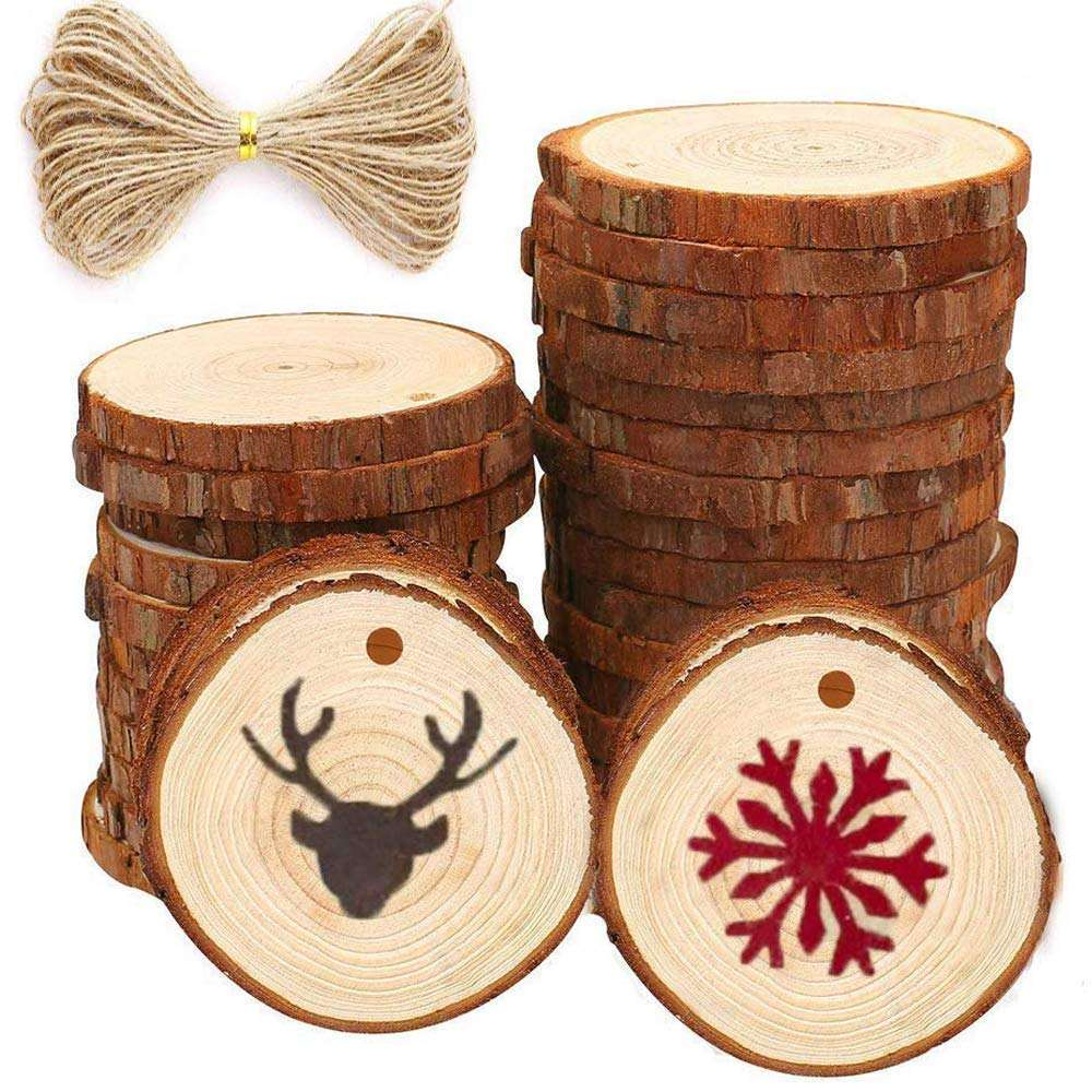 Hars Hout Plakjes voor Centerpieces Onderzetters <span class=keywords><strong>Kerst</strong></span> Ornamenten DIY <span class=keywords><strong>Ambachten</strong></span>