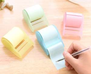 Mini roll sticker papier memo pad/reel custom sticky notes