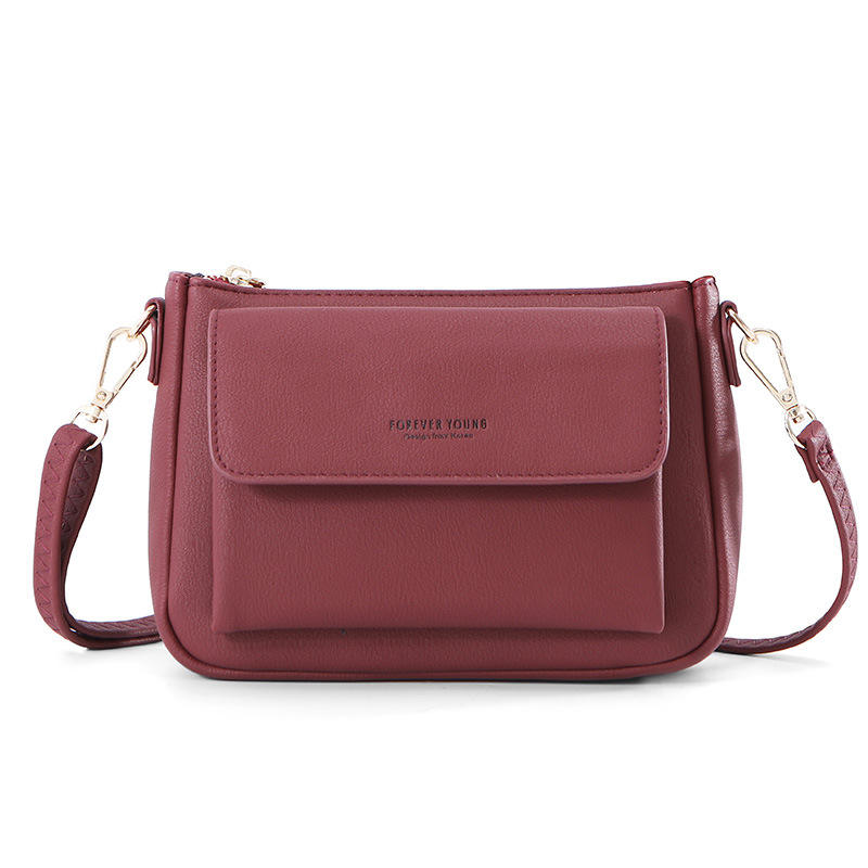 High quality cheap fashion ladies soft leather New Messenger Bag Fashion Bag forever young Korean Simple Shoulder Bag