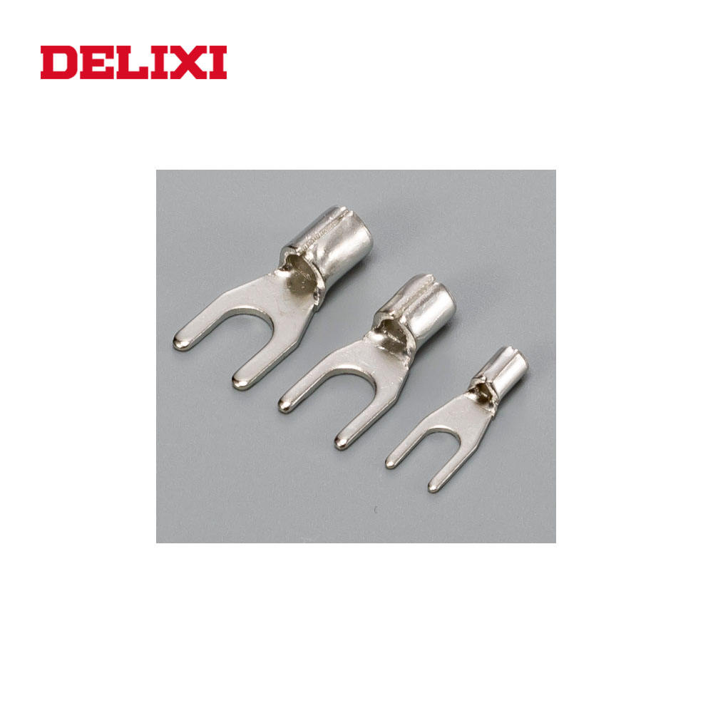 DELIXI OT UT COLD-PRESSED TU FURCATE NAKED Cable Crimp Terminals Copper Brass Battery Terminals
