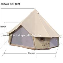 Waterproof Cotton Canvas Family Camping bell Tent with tarp