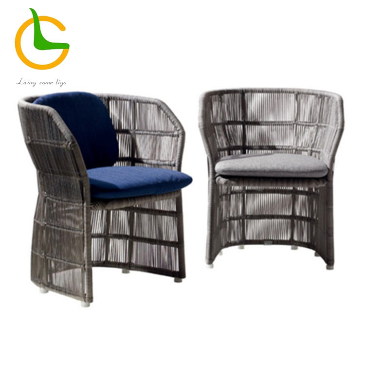 High quality pe wicker outdoor low back armchairs