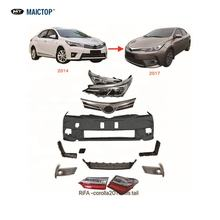Newest Car auto parts body kit for corolla  2014 upgrade to 2017 2018