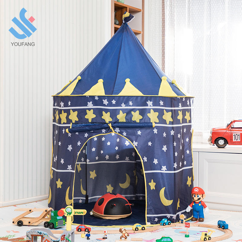 YF-Z601 prins prinses kasteel spelen pop up tent teepee tent kids baby game room kids prinses spelen tent