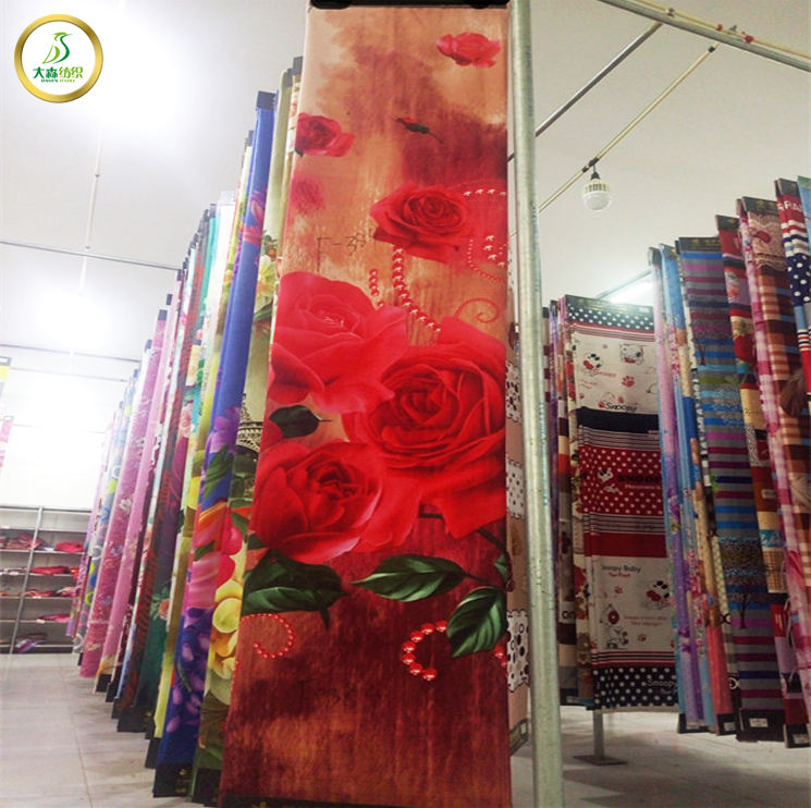 disperse printed bed sheet fabrics wholesale