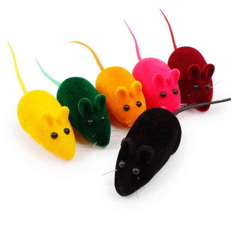 Pet toys wholesale funny soft plastic cat toy mice mouse with sound
