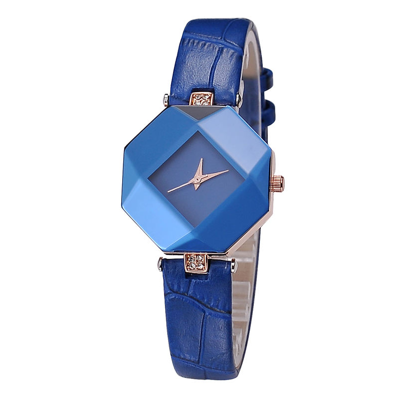 KEZZI Brand Irregular Shape Blue Diamond Women Watches Japanese Quartz Movt Watch Woman Stock Clean