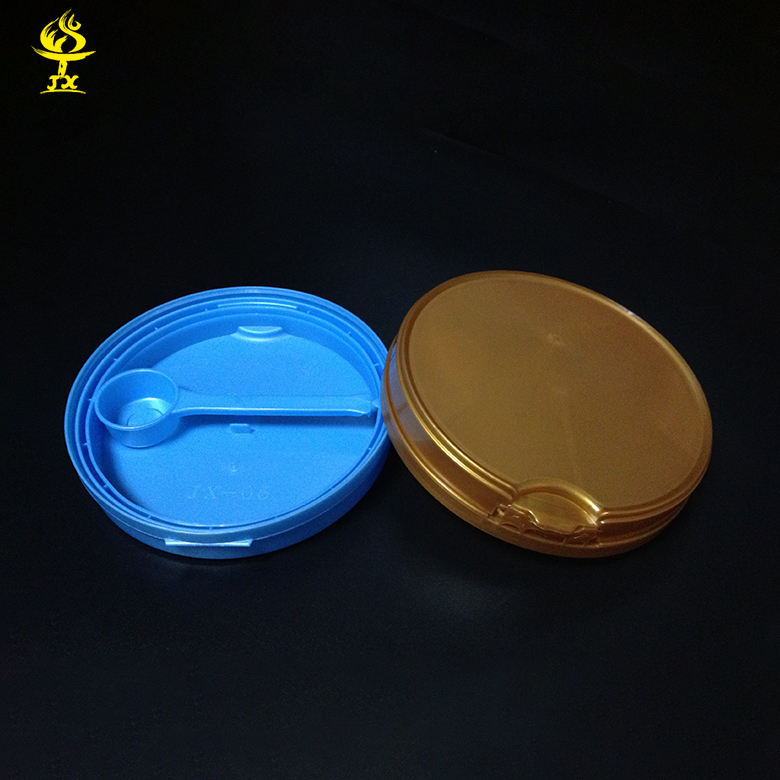 Plastic Milk Can Lid Double Layers Plastic Milk Can Lid With Spoon