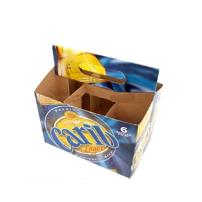 pack glass carrier packing gift boxes with dividers carton paper packaging cardboard size of 4 6 12 24 bottle six pack beer box