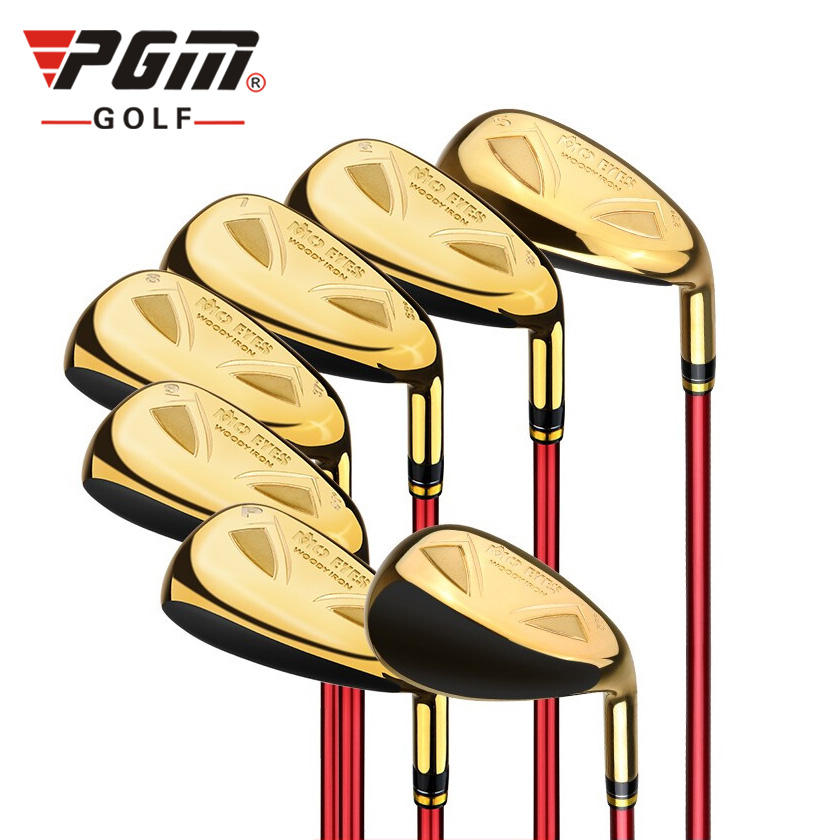 MO EYES High Performance and Low Torque Graphite Golf Iron Clubs in Shiny Gold Color